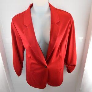 Style & Co Red Stretchy Blazer